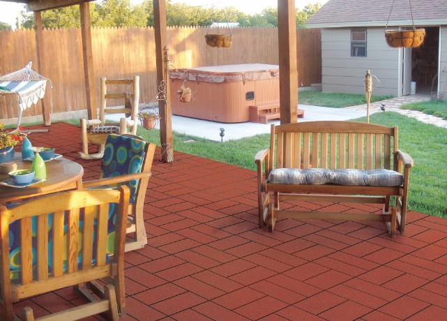 Rubber Patio Pavers; Rubber Patio Pavers; Rubber Garage Flooring; Rubber  Pavers ...