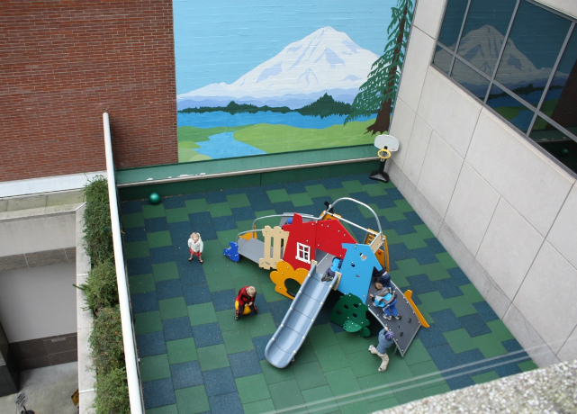 Recycled Rubber Playground Tile Safety Surfacing