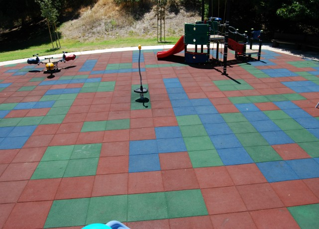 Playground Tiles At Park Kids Surfaces Rubber
